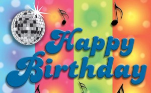 Wanddeko Disco Happy Birthday