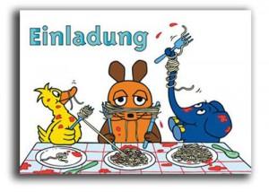 Einladungskarten die Maus