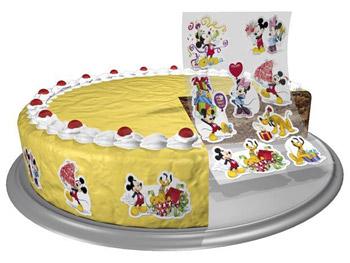 Essbare Kuchen-Sticker Micky Maus
