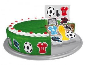 Essbare Kuchensticker Fußball