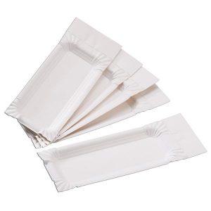 Pappteller mit Abriss für Wurst