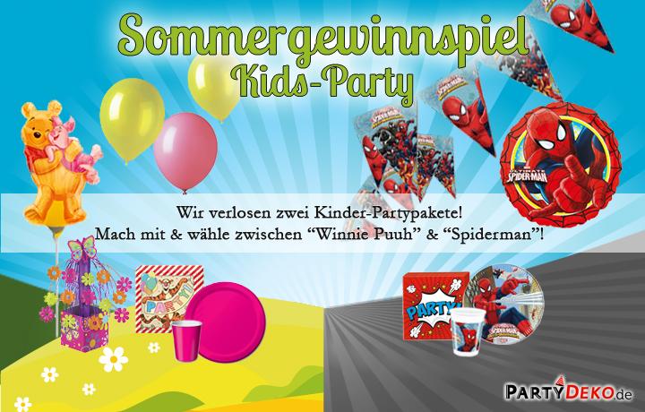 Sommergewinnspiel Kids-Party