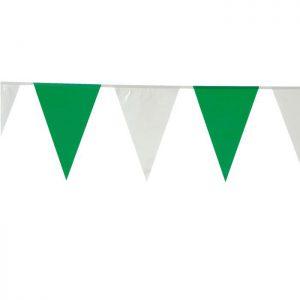 Wimpel-Girlande grün-weiß