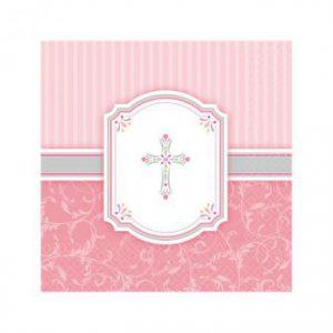 """Servietten """"Kreuz"""" rosa 16er Pack"""