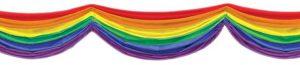 XXL Deko-Tuch Regenbogen 178 cm