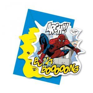 """Einladungskarten """"Spiderman Comic Style"""" mit Umschlag"""