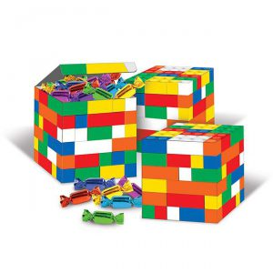 """Geschenkboxen """"Farbenfrohe Bausteine"""" 3er Pack"""