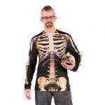 "Fotorealistisches Langarm-Shirt ""Skelett"""