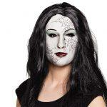 "Latex Maske ""Zombie-Frau"" mit Haaren"