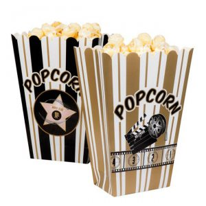 "Popcorn-Tüten ""Hollywood"" 4er Pack"