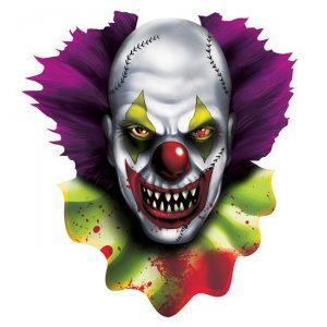 """Raumdeko """"Horror-Clown"""" aus Pappe 40 cm"""