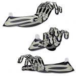 """Wanddeko """"Skelett-Hand"""" 4er Pack"""