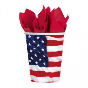 "Pappbecher ""Amerikanische Flagge"" 8er Pack"