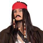 Perücken-Set Captain Jack 2-tlg.