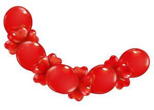 """Ballongirlande """"Herzen"""" 210 cm"""
