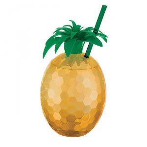 Goldener Ananas Becher 17,5 cm