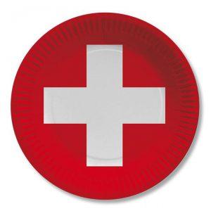 """Pappteller """"Schweiz"""" 10er Pack"""