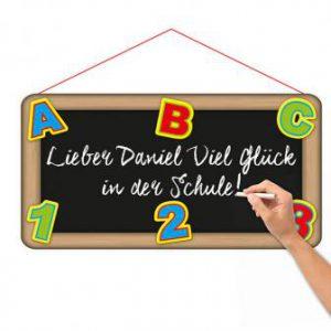 """Schild """"Erster Schultag"""" 55 cm"""