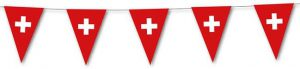 """Wimpel-Girlande """"Schweiz"""" 3,5 m"""