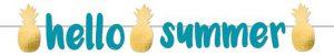 """Buchstaben-Girlande """"Sommerliche Ananas"""" 1,25 m"""
