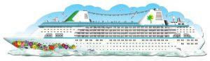 Wanddeko Kreuzfahrtschiff Love-Boat 182 cm