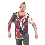 "Fotorealistisches Langarm-Shirt ""Zombie"""