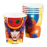 "Pappbecher ""Kunterbunter Clown"" 6er Pack"