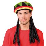 Rastafarimütze mit Dreadlocks