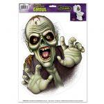 """Selbstklebende WC-Dekofolie """"Zombie"""" 36 cm"""