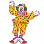 Raumdeko Lustiger Zirkus-Clown 76 cm