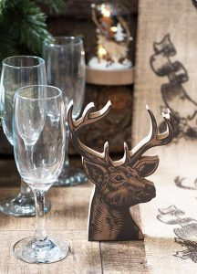 """Tischdeko """"Hirsch"""" aus Holz 16,8 cm"""