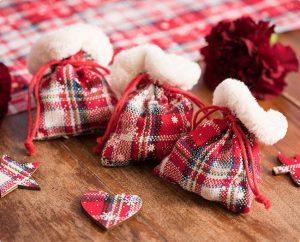 """Säckchen """"Winterliche Weihnacht"""" 4er Pack"""