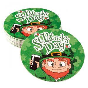 """Bierdeckel """"Fröhlicher St. Patrick's Day"""" 10er Pack"""