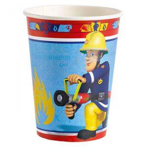 """Pappbecher """"Feuerwehrmann Sam"""" 8er Pack"""