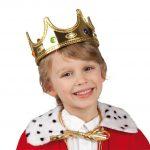 Prachtvolle Krone Königskind gold