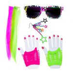 "Accessoire-Set ""80er Party Girl"" 6-tlg."