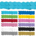 Einfarbige Wabenpapier-Girlande 360 cm