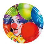 "Pappteller ""Kunterbunter Clown"" 6er Pack"