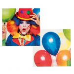 "Servietten ""Kunterbunter Clown"" 12er Pack"