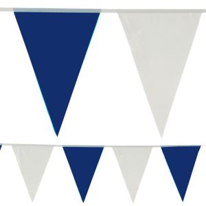 Wimpel-Girlande Blau-Weiß 10 m