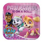 "Eckige Pappteller ""Paw Patrol for Girls"" 8er Pack"