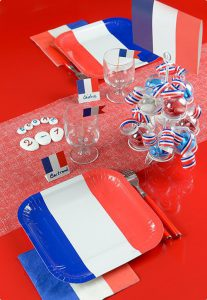 "Eckige Pappteller ""Vive la France"" 10er Pack"