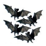 Tischdeko Düstere Fledermäuse 4er Pack