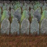 """Wanddeko """"Friedhof mit Gräbern"""" 910 cm"""