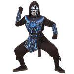 """Kinder-Kostüm """"Cyber Ninja"""" mit Sound- und Lichteffekten 5-tlg."""