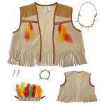 """Kinder Kostüm-Set """"Bunter Indianer"""" 5-tlg."""