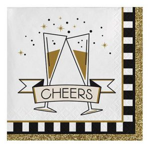 """Cocktail-Servietten """"Sparkling New Year"""" 16er Pack"""