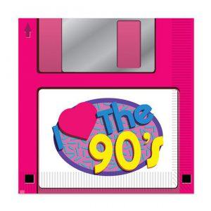 "Servietten ""I love the 90s-Party"" 16er Pack"