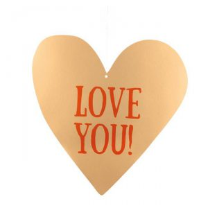 "Deckenhänger ""Love You"" 31 cm"