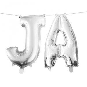 """Folienballon-Set """"Ja"""""""